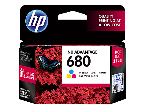 HP 680 Tri-color Cartridge (F6V26AA)