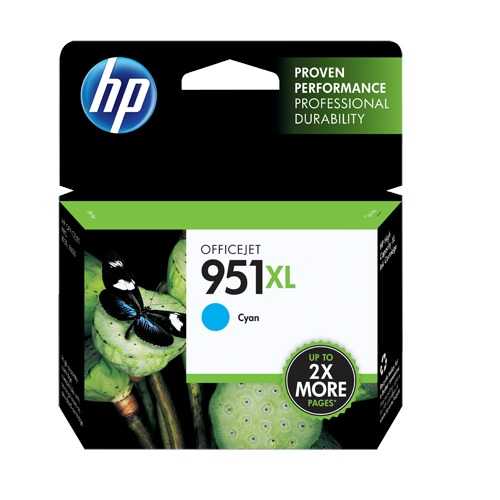 HP 951XL Cyan Ink Cartridge (CN046AE)